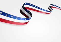 American flag background. Vector illustration - stock illustration