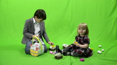 Easter, children, green screen, 4k, ProRes, 4.2.2 Stock Footage