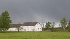 Farm on a rainy day Stock Footage