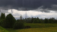 Telecommunication tower in the open air Stock Footage