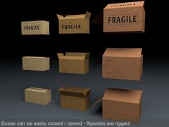 Cardboard Boxes Mega Pack - 3D model
