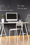 Now you now how to decorate your study - stock photo