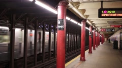 Subway station 79th street on Manhattan in NYC Stock Footage