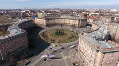 Historical building complex is on the Komsomolskaya Square, St. Petersburg, Rus Stock Footage