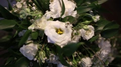 Wedding bouquet Bride Stock Footage