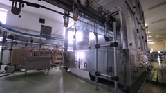 Water bottle conveyor industry Stock Footage