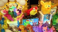 Many toys for children to Christmas and New Year holidays. Stock Footage