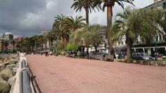 Promenade in Rapallo Stock Footage