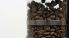 Low motion clip of coffee beans being roasted  Stock Footage