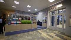 Book shop in building of Bauman Moscow State Technical University. Stock Footage