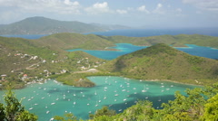 Coral Bay St. John, USVI (pan) - stock footage