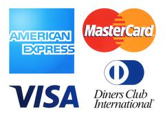 Collection of popular payment system logos - stock photo