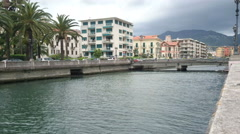 River in Rapallo, Italy Stock Footage