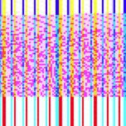 abstract glitch art design background. - stock illustration