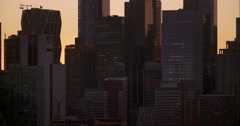 A cluster of buildings in Manhattan early morning. Stock Footage