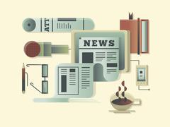 News design concept - stock illustration