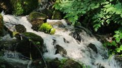 TEPELENE WATERFALL ALBANIA Stock Footage