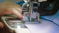 Working part of  industrial sewing machine - stock footage
