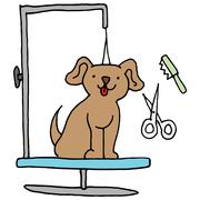 Dog grooming table - stock illustration