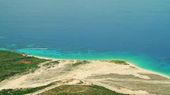 DHERMI BEACH HIMARA ALBANIA TOP VIEW Stock Footage