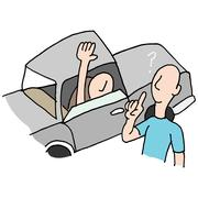 Driver asking directions Stock Illustration