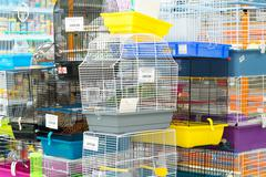 Moscow, Russia - April 16.2016. Interior Four paws pet store - stock photo