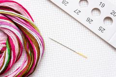 Preparations for embroidery - stock photo