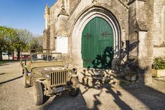 Church of Sainte Marie du Mont - stock photo
