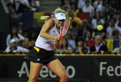 Tennis women WTA 3 ranked German player Angelique Kerber - stock photo