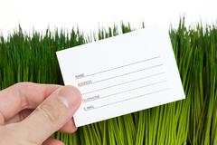 Address Book and green grass Stock Photos