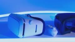 Change Thumbnail  Modern smart technology VR headset Stock Footage