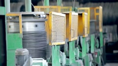 Production of still wire at the plant - stock footage