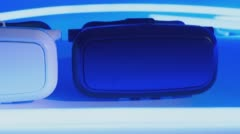 Virtual reality goggles background - stock footage
