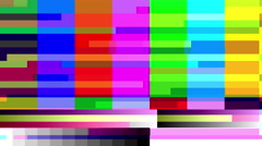 Stock Video Footage of TV color bars with a digital malfunction - Glitch 1005 HD, 4K