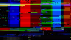 TV color bars with a digital malfunction - Glitch 1006 HD, 4K - stock footage