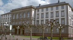 Universitiy of Giessen Main building Stock Footage