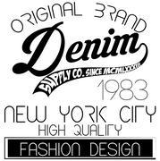 Athletic sport New York typography; t-shirt graphics; vectors Stock Illustration