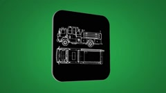 Vector Map intro - Sand Truck  - Transition Blueprint - green 02 - stock footage