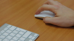 hand clicking computer mouse - stock footage