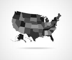 USA states - vector illustration. Stock Illustration