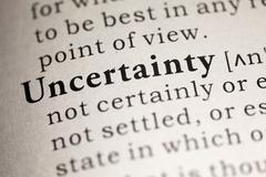 Uncertainty - stock photo