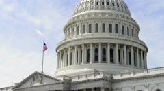 United States Capitol Stock Footage