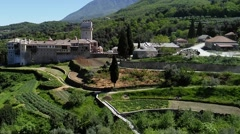 Mount Athos, Chalkidiki Greece - Karakallou monastery at Agion Oros. Stock Footage