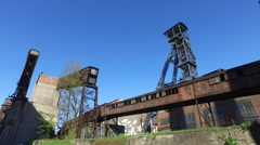 Pithead and Conveyour Belts at Metallurgical Plant Stock Footage
