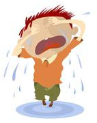 Crying child Stock Illustration