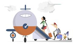 Family travel Stock Illustration