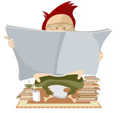 Book lover Stock Illustration