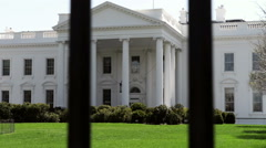 White House from Security Fence Stock Footage