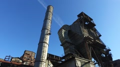 Dedusting Station At Old Metallurgical Plant Stock Footage