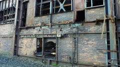 Old Abandoned Metallurgical Plant Stock Footage